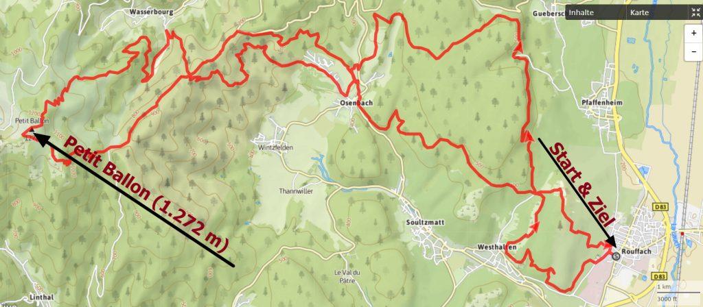 Karte Trail du Petit Ballon 2017