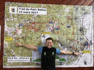 Trail du Petit Ballon Karte