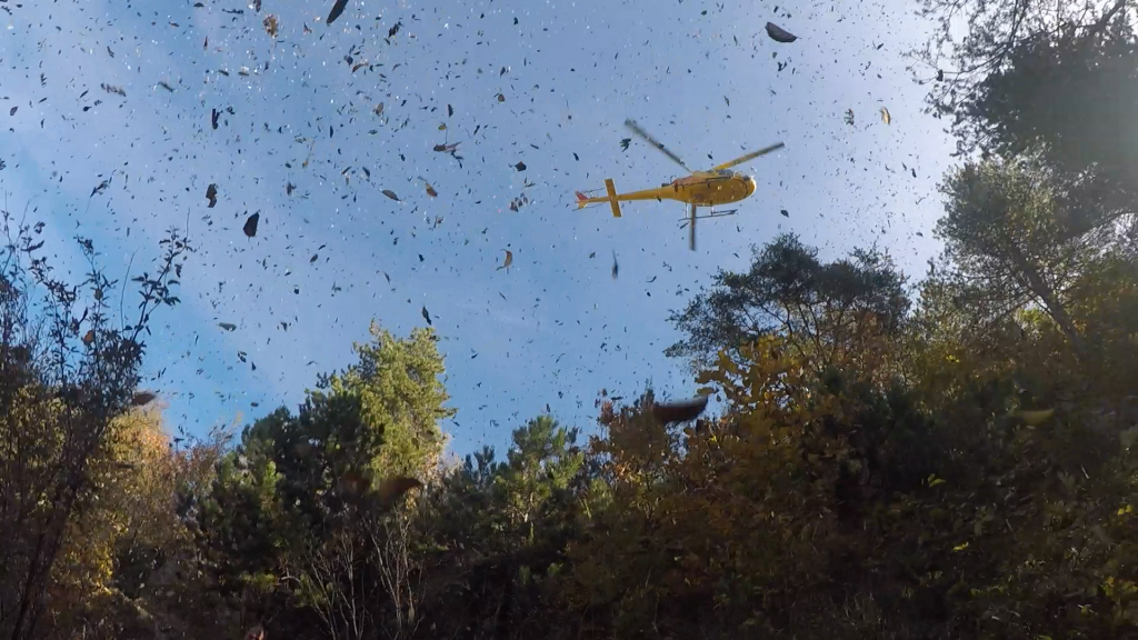Verfolgt vom Helikopter beim Limone Skyrace
