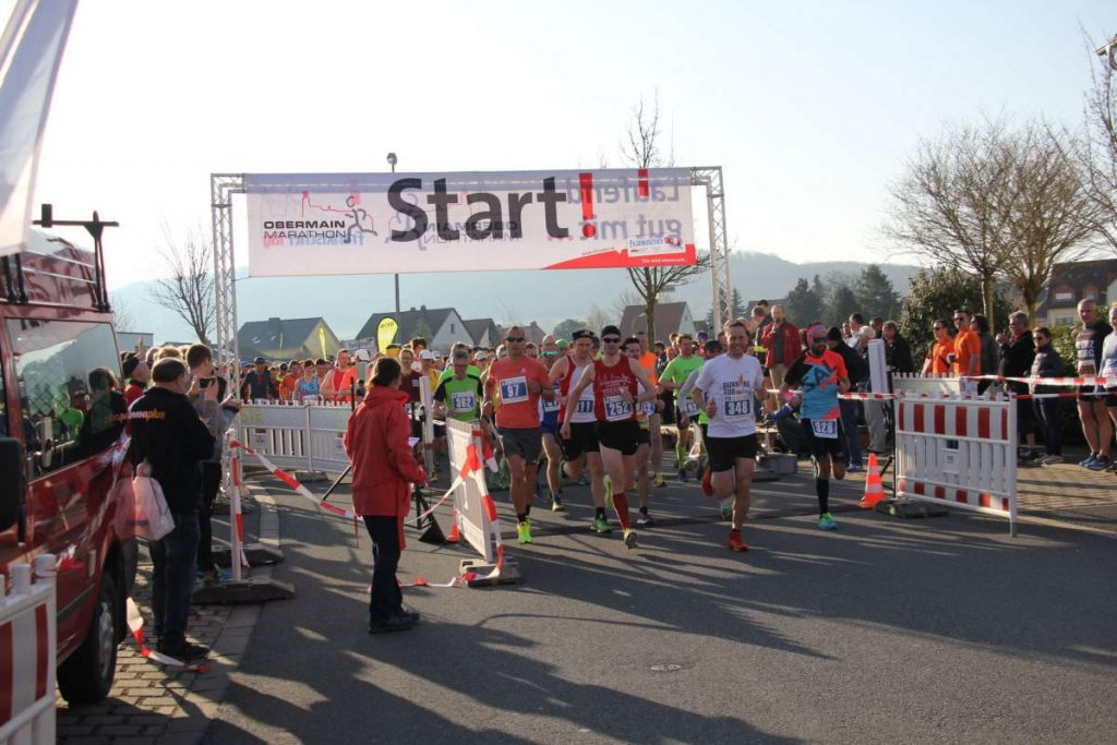 Start beim Obermain Marathon