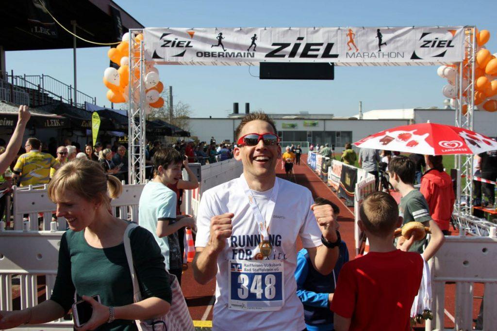 Zieleinlauf beim Obermain Marathon