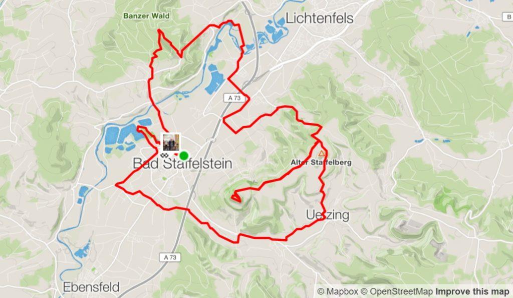 Obermain Marathon Strecke
